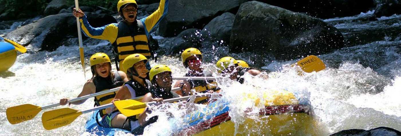 slide-rafting